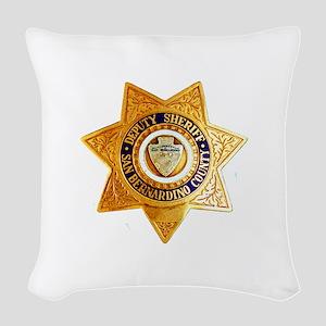 San Bernardino County Sheriff Woven Throw Pillow