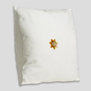 San Bernardino County Sheriff Burlap Throw Pillow