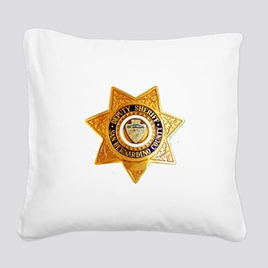 San Bernardino County Sheriff Square Canvas Pillow