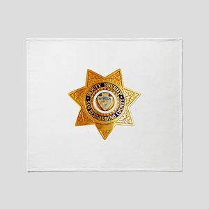San Bernardino County Sheriff Throw Blanket