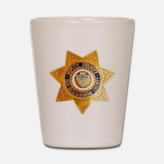 San Bernardino County Sheriff Shot Glass