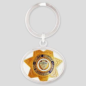 San Bernardino County Sheriff Oval Keychain