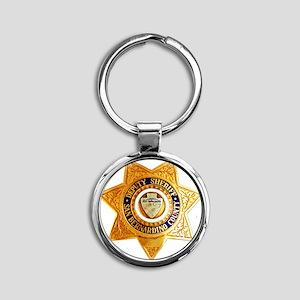 San Bernardino County Sheriff Round Keychain