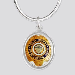 San Bernardino County Sheriff Silver Oval Necklace