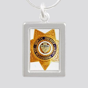 San Bernardino County Sh Silver Portrait Necklace