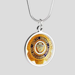 San Bernardino County Sherif Silver Round Necklace