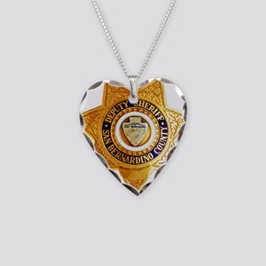 San Bernardino County Sheriff Necklace Heart Charm