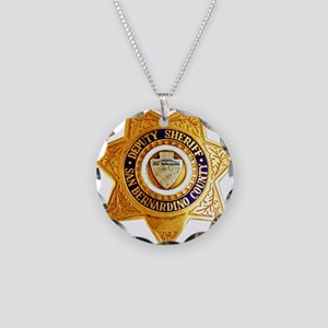San Bernardino County Sherif Necklace Circle Charm