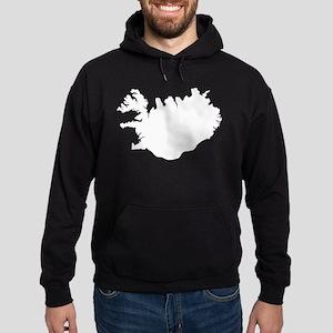 White Iceland Hoodie (dark)