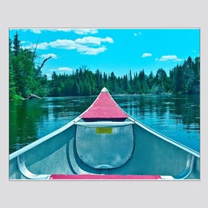 Canoe on River Posters