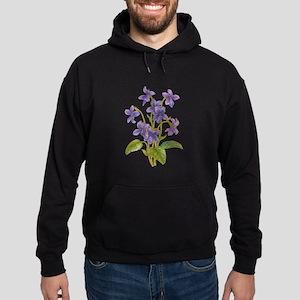 Purple Violets Hoodie (dark)