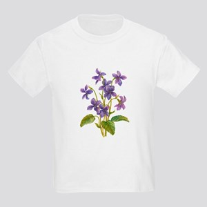 Purple Violets Kids Light T-Shirt