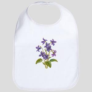 Purple Violets Bib