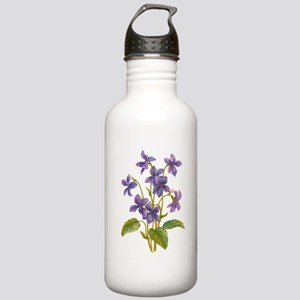 Purple Violets Stainless Water Bottle 1.0L