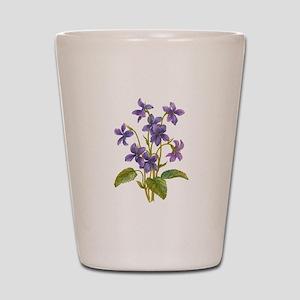 Purple Violets Shot Glass