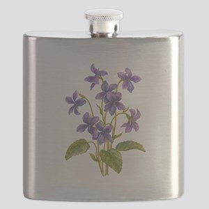 Purple Violets Flask