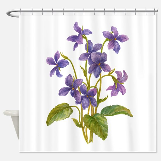 Purple Violets Shower Curtain