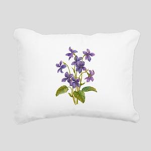 Purple Violets Rectangular Canvas Pillow