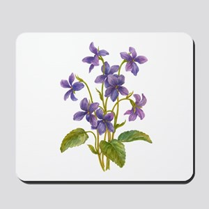 Purple Violets Mousepad