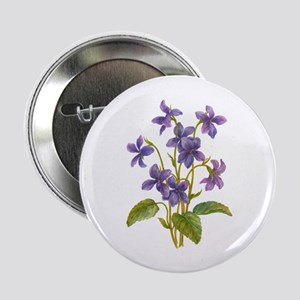 "Purple Violets 2.25"" Button"