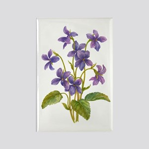 Purple Violets Rectangle Magnet