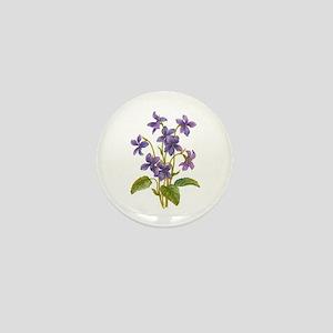 Purple Violets Mini Button