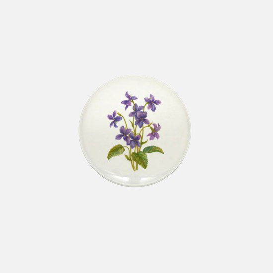 Purple Violets Mini Button