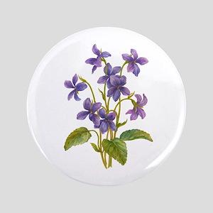 Purple Violets Button