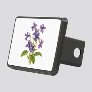 Purple Violets Rectangular Hitch Cover