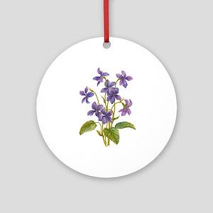 Purple Violets Ornament (Round)