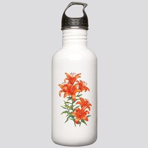 Orange Daylilies Stainless Water Bottle 1.0L
