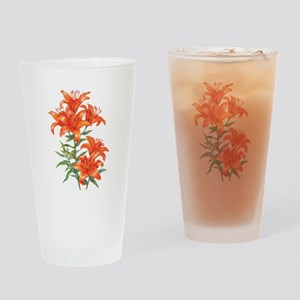 Orange Daylilies Drinking Glass