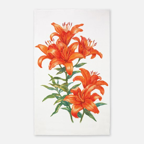 Orange Daylilies Area Rug