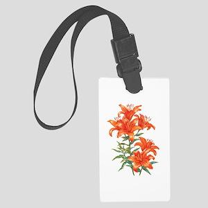 Orange Daylilies Large Luggage Tag