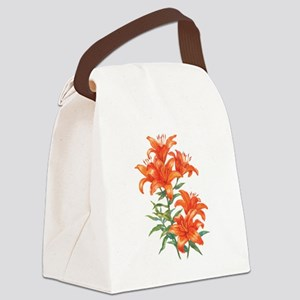 Orange Daylilies Canvas Lunch Bag
