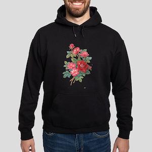Romantic Red Roses Hoodie (dark)