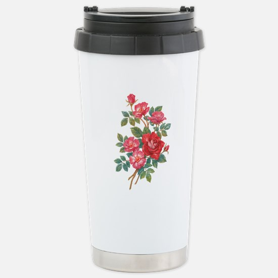 Romantic Red Roses Stainless Steel Travel Mug