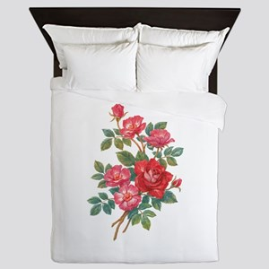 Romantic Red Roses Queen Duvet