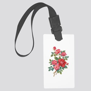 Romantic Red Roses Large Luggage Tag