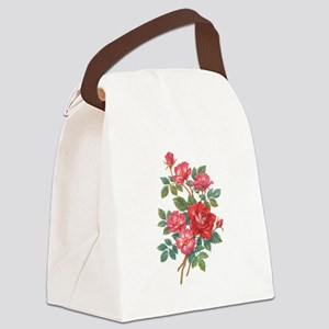 Romantic Red Roses Canvas Lunch Bag