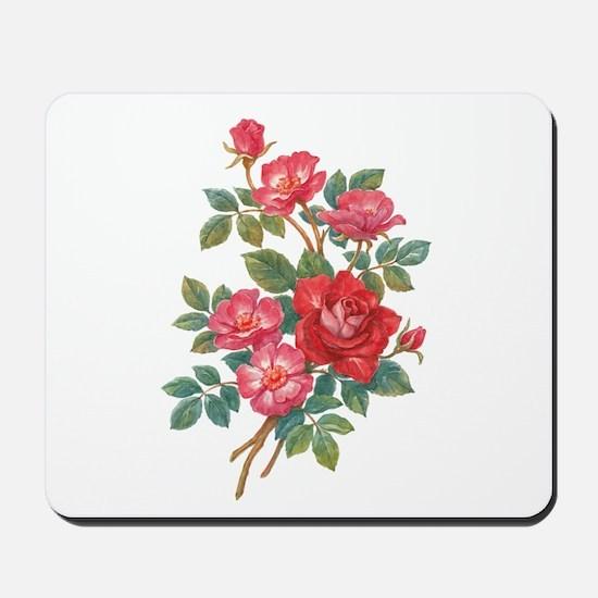 Romantic Red Roses Mousepad