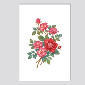 Romantic Red Roses Postcards (Package of 8)