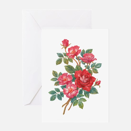 Romantic Red Roses Greeting Card