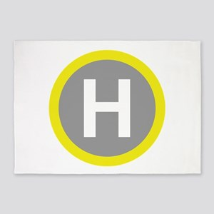 Helipad Sign 5'x7'Area Rug