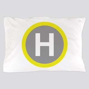 Helipad Sign Pillow Case