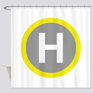 Helipad Sign Shower Curtain