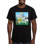 Bessie v Lassie Men's Fitted T-Shirt (dark)