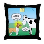 Bessie v Lassie Throw Pillow