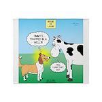 Bessie v Lassie Throw Blanket