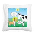 Bessie v Lassie Square Canvas Pillow